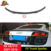 R8 Rear Trunk Spoiler Wing for Audi R8 V8 V10 Coupe 2007-16 Carbon Fiber