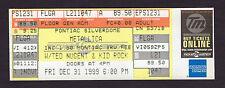 1999 Metallica Ted Nugent Kid Rock unused full concert ticket Silverdome Pontiac