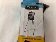 "Quartet Full Size Instant Portable Folding Easel 63"" Adjustable, Aluminum, Black"