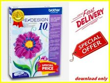 Brother PE Design 10 Embroidery Full Software 2021+ 200 Embroidery Designs
