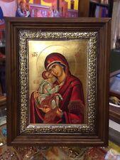 The Sweet Kissing- Theotokos  Handmade Greek orthodox Russian byzantine icon