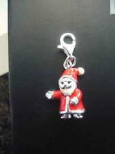 Charms Anhänger 925ér Silber Weihnachtsmann für Kette oder Armband emailliert