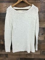 Rag & Bone Women's Cream Bumpy Knit Tunic Length Sweater Size L