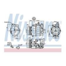 Fits Mercedes Viano W639 2.0 CDi Genuine Nissens A/C Air Con Compressor
