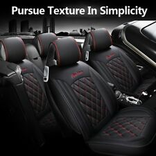 Four Seasons Luxury PU Leather Car 5-Seat Seat Covers Protector Cushion Mat