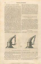 Service des Billets Chemin de Fer Machine à Dater Timbre Sec GRAVURE PRINT 1860