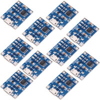 10pcs Micro USB 5V 1A TP4056 Lithium Li Battery Charging Board Charger Module