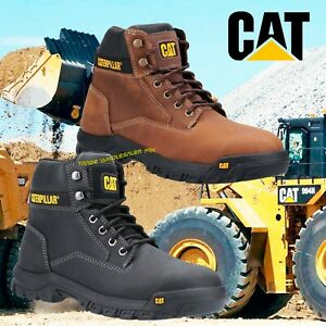 Caterpillar MEDIAN Safety Boots Steel Toecap Leather S3 Comfort & Mobility