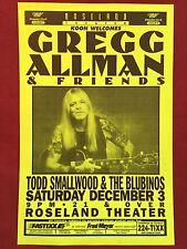 GREGG ALLMAN Original Concert Poster Gig Flyer Portland 1994