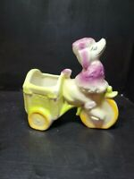 Rare Vintage Shawnee Pottery USA 712 Poddle Pedal Cart Kitsch Planter