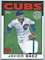 2021 Topps Series 1 JAVIER BAEZ 1986 Jersey Patch Relic #86R-JB Chicago Cubs