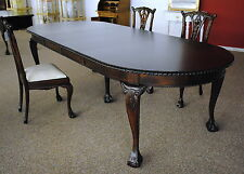 Chippendale Tisch Esstisch DTE-03/300 Mahagoni verstellbar 300 cm brown Walnuss
