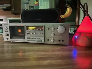 SONY TC-K61 Stereo Cassette Deck Player & Recorder TESTED