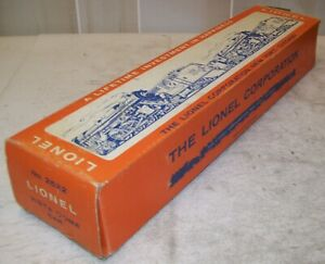 Lionel Postwar 2522 Vista Dome Car Original Orange Picture BOX ONLY ~ Very Good