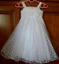 A SAISIR Superbe robe cérémonie~mariage~motifs coeurs~4 ans~excellent état