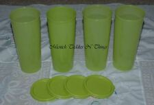 TUPPERWARE GUACAMOLE GREEN TUMBLER   SET OF 4