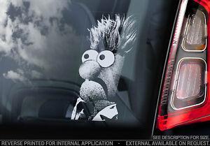 BEAKER Car Sticker, The Muppet Show Peeper Window Bumper Decal Sign Gift - V02