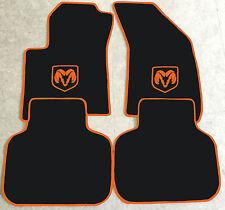 Autoteppich Fußmatten für Dodge Journey schwarz orange orang ab 2008 4teilig Neu