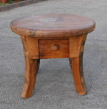 coffee table Reclaimed Solid Teak Rustic 60cm Round