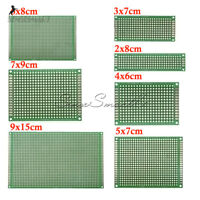 10PCS Double Side Prototype PCB Bread board Tinned Universal FR4 2x8 6x8 9x15cm