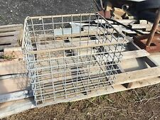 Old Vintage Collectable industrial galvanised  steel wire crates baskets