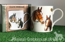 Famous Racehorses Red Rum Shergar Nijinski etc china mug horse lover Gift, boxed
