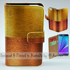 Wallet Phone Case Flip Cover for Samsung Galaxy Note5 - Copper Bronze Gold Print