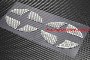 For 2011+ Scion tC Gray Carbon Fiber Hood Rear Trunk Emblem Decal Insert 2pcs