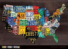 USA Map II by Aaron Foster Variety Poster Print 24x36