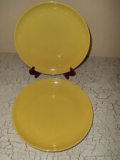 "4 CRATE & BARREL 11.25"" Yellow Dinner Plates"