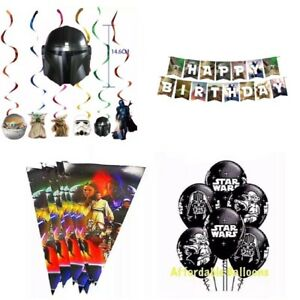 Star Wars birthday Party balloons. Star Wars themed decorations party supplies