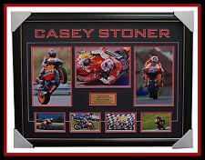 Casey Stoner Repsol Honda Signed Photo Collage Framed Dual World Champion 2011