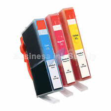 3 COLOR 564XL New Ink Cartridge W/CHIP 564XL *INK LEVEL* 564XL (3CLR) for HP