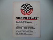 advertising Pubblicità 1974 MOTO GILERA RACING TEAM VINCE SEI GIORNI CAMERINO