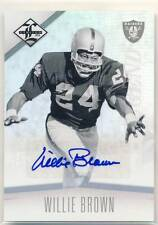 WILLIE BROWN 2012 Panini Limited Legend #112 AUTO AUTOGRAPH SP /25 RAIDERS HOF