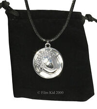 Bilbo Baggins SILVER ACORN BUTTON Necklace Pendant Hobbit LOTR Lord Of The Rings