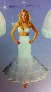 MERMAID STYLE PETTICOAT SLIP FOR ALL GOWNS CRINOLINE TRUMPET SIZE X- LG