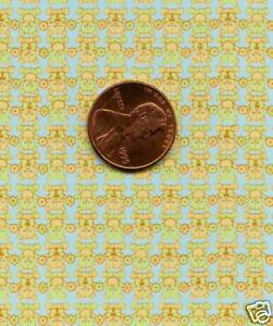 Dollhouse Wallpaper / 1 Sheet of Mini Mini Bears -Blue 1:12 or 1:24