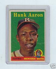 1958 TOPPS #30 HANK AARON YELLOW NAME VARIATION, BRAVES, 071617