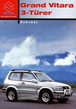 Prospekt 2003 Suzuki Grand Vitara 3 Türer Zubehör 7 03 brochure Auto Pkw Japan