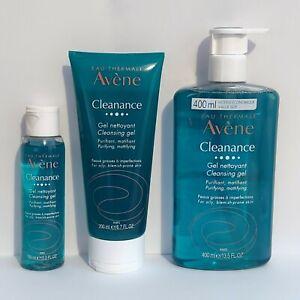 AVENE CLEANANCE Cleansing Gel 400ml-200ml-100 ml - Oily Acne Blemish-Prone Skin