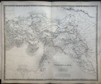 1846 Turkey In Asia Ottoman Empire Large Map from Johnston's National Atlas