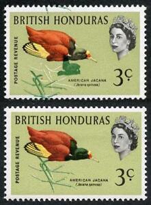 British Honduras SG204 1962 3c (legs) Bird Colour Shift M/M