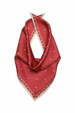 Wolford Dot Sciarpa Scarf Color Fuchsia/Beige 100% SILK Made in Italy 009-40