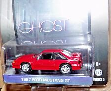Greenlight GHOST 1987 FORD MUSTANG GT FOX BODY Red HOLLYWOOD SERIES