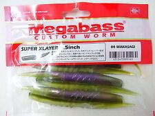 "Megabass - SUPER XLAYER 4.5inch 4.5"" 04 WAKASAGI"