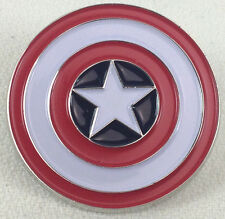 CAPTAIN AMERICA Shield Marvel Comics and Movie Series - Enamel Pin - Avengers!
