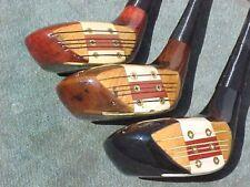 PERSIMMON Macgregor Eye O Matic M55W & Toney Penna Golf Clubs RH Woods Set 2 3 4
