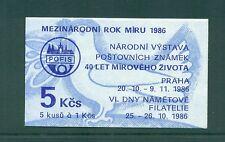 Czechoslovakia 1986 year of Peace Booklet