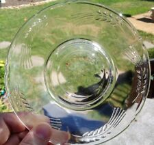 Sheaves of Wheat Pattern Clear GLASS SAUCER ONLY Anchor Hocking Fire King VTG